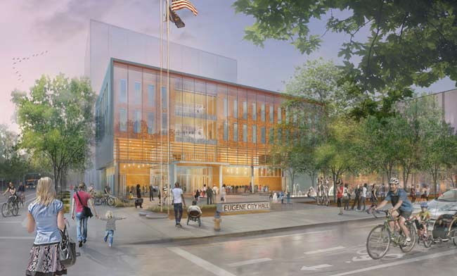 New Eugene City Hall Costs Much More Than Expected